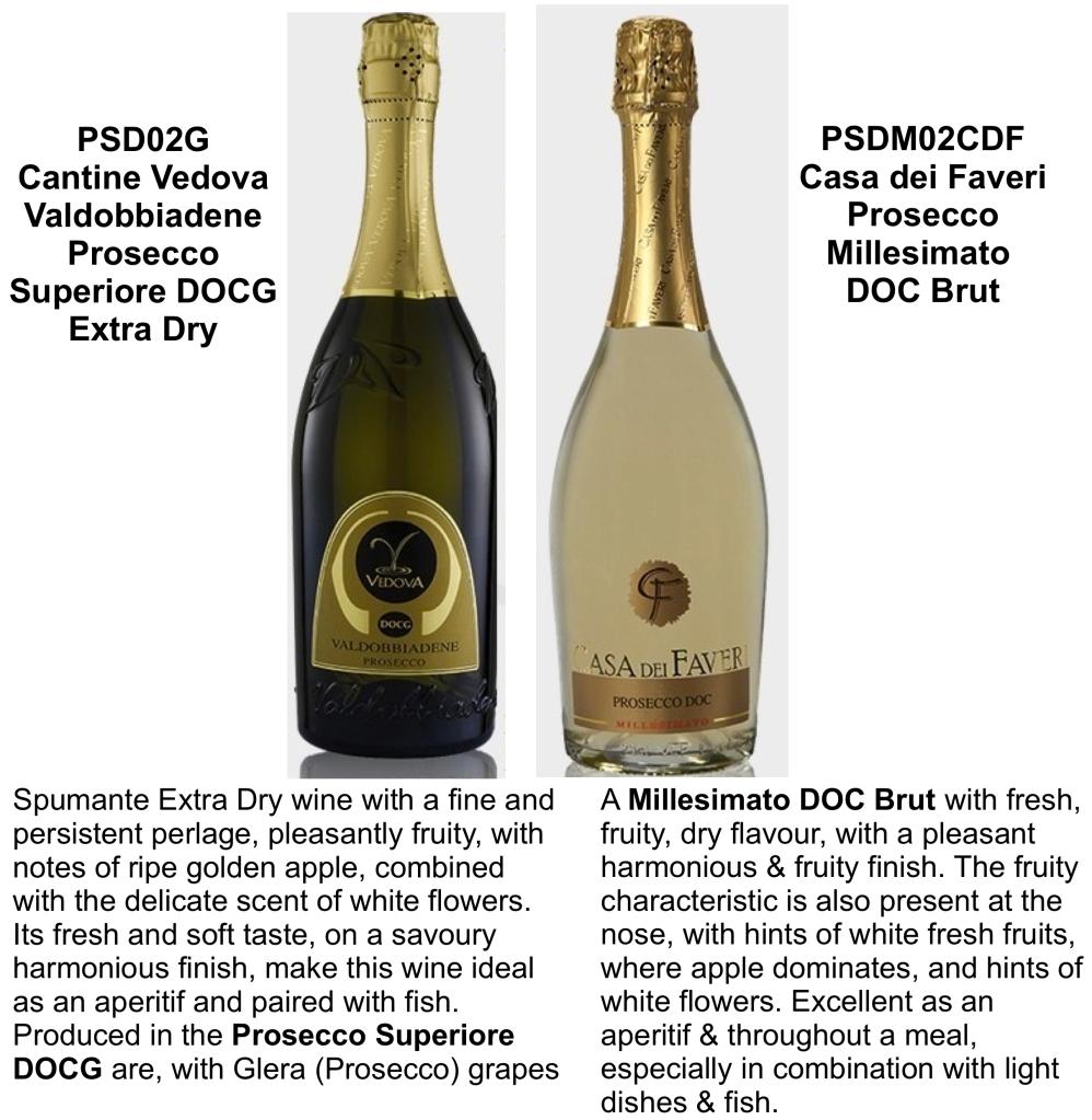 Prosecco from Valdobbiadene