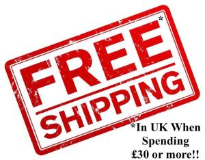 Free UK shipping when spending £30 or More